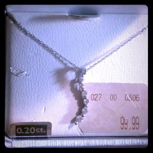 Diamond journey pendant with fine rope chain